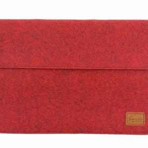 17 Zoll Hülle Tasche Schutztasche Laptop Sleeve Ultrabook Filztasche 17.3 rot Bild 1