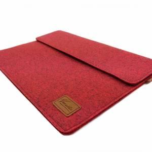 17 Zoll Hülle Tasche Schutztasche Laptop Sleeve Ultrabook Filztasche 17.3 rot Bild 3
