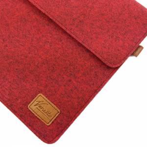 17 Zoll Hülle Tasche Schutztasche Laptop Sleeve Ultrabook Filztasche 17.3 rot Bild 4