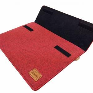 17 Zoll Hülle Tasche Schutztasche Laptop Sleeve Ultrabook Filztasche 17.3 rot Bild 5