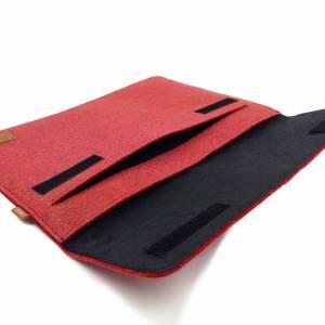 17 Zoll Hülle Tasche Schutztasche Laptop Sleeve Ultrabook Filztasche 17.3 rot Bild 6