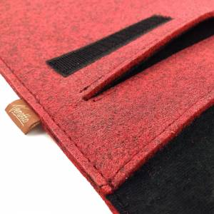 17 Zoll Hülle Tasche Schutztasche Laptop Sleeve Ultrabook Filztasche 17.3 rot Bild 7