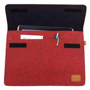 17 Zoll Hülle Tasche Schutztasche Laptop Sleeve Ultrabook Filztasche 17.3 rot Bild 8