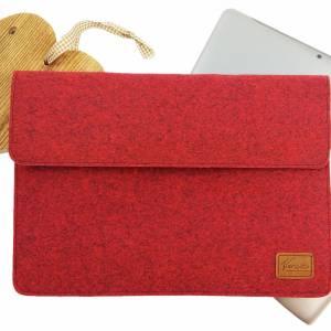 17 Zoll Hülle Tasche Schutztasche Laptop Sleeve Ultrabook Filztasche 17.3 rot Bild 9
