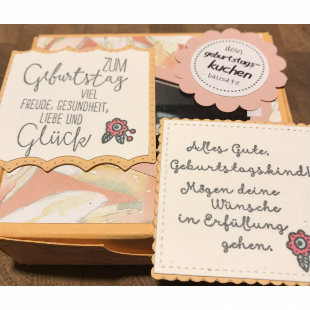 Geburtstagskuchen Bausatz mit Konfetti, Kerze + Spitzendeckchen für den  Geburtstagskuchen To Go   Delightful Daisy