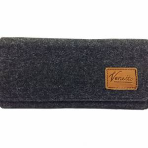 Filztasche Portemonnaie Geld-Börse Geldtasche Geldbörse Geldbeutel Brieftasche Schwarz meliert Bild 1