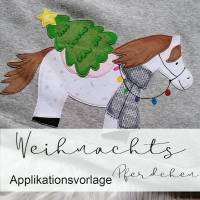 WEIHNACHTS Applikationsvorlage PFERDCHEN Bild 1
