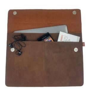 """Ledertasche 15,4 Zoll Hülle Tasche Schutzhülle Schutztasche Sleeve Case für MacBook Pro 15"""", MacBook Pro 16"""" Led Bild 2"""
