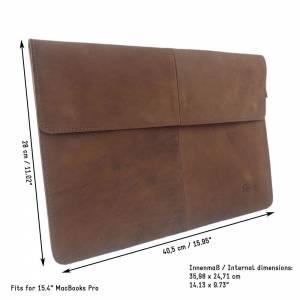 """Ledertasche 15,4 Zoll Hülle Tasche Schutzhülle Schutztasche Sleeve Case für MacBook Pro 15"""", MacBook Pro 16"""" Led Bild 9"""