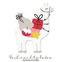 WEIHNACHTS Applikationsvorlage LAMA Bild 1
