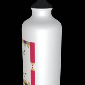 """Alu Trinkflasche zur Einschulung """"Du bist 1. Klasse!"""" + 2 Verschlüsse 600ml Bild 4"""