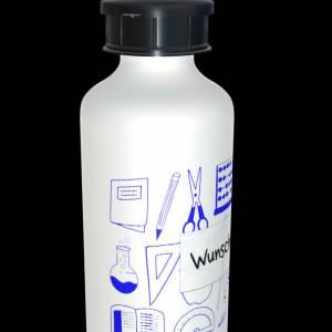 Alu Trinkflasche 600ml mit Wunschnamen  + 2 Verschlüsse Bild 7