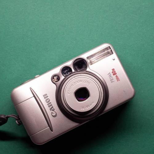 Canon Prima Zoom 80u | 35mm-Kamera | FILMTESTED | sehr guter Zustand | silber | Point-and-Shoot