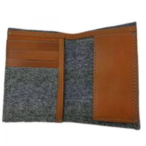 Portemonnaie Geldbörse Geldtasche Brieftasche Damengeldbörse Herrenbörse, Grau Bild 3