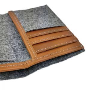 Portemonnaie Geldbörse Geldtasche Brieftasche Damengeldbörse Herrenbörse, Grau Bild 4