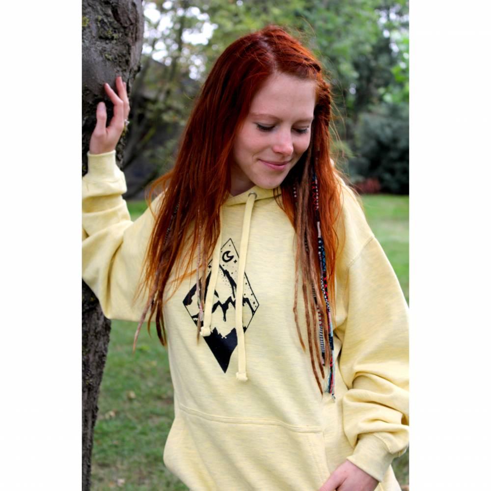 Yellow Wanderlust Berge Surf Hoodie Yoga Meditation goa hippie Kleidung Bild 1