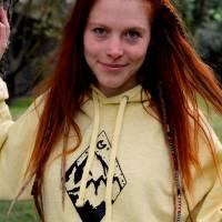 Yellow Wanderlust Berge Surf Hoodie Yoga Meditation goa hippie Kleidung Bild 2