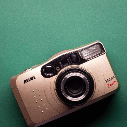 Revue 140 AF Zoom | 35mm-Kamera | FILMTESTED | sehr guter Zustand | silber | Point-and-Shoot