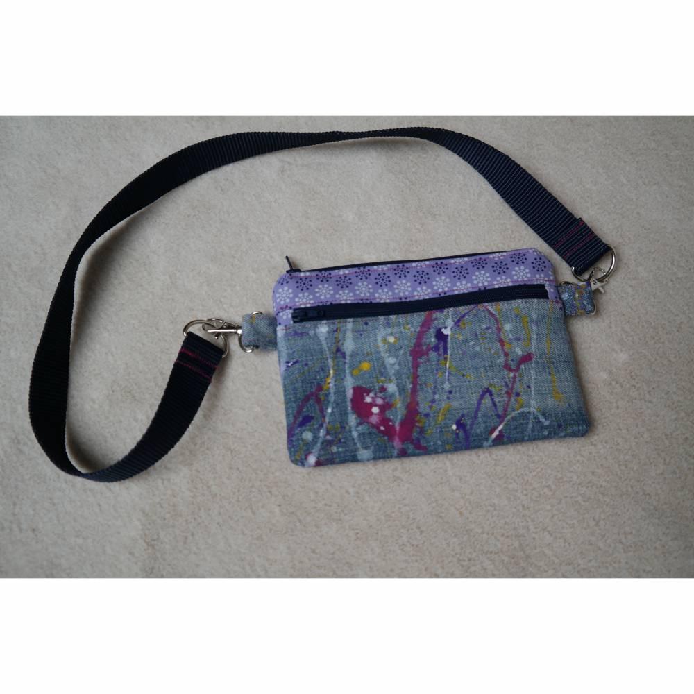 Gürteltasche, Hüfttasche, Handytasche, Jeans, Upcycling Bild 1