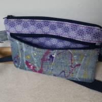Gürteltasche, Hüfttasche, Handytasche, Jeans, Upcycling Bild 5