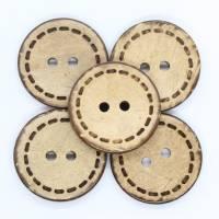 Kokosknopf, Holzknopf, Handmade, 20mm, Knopf Bild 1
