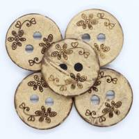 Kokosknopf, Holzknopf, Handmade, 15mm, Knopf Bild 1