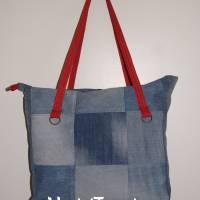 Shopper, Schultertasche, Jeanstasche upcycling Bild 1