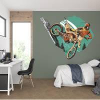 Top Wandtattoo Motocross konturgeschnitten in 6 Größen ab 45 cm B x 35 cm H Bild 1