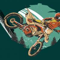 Top Wandtattoo Motocross konturgeschnitten in 6 Größen ab 45 cm B x 35 cm H Bild 2