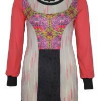 Farbenfroher Designer Pulli -Eco Fashion Art Print *Seerose*Pink-100% Biobaumwolle -Sweatshirt Kleid Langarm hochwertig Bild 1