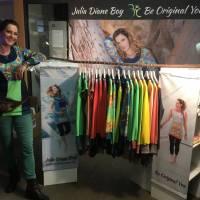 Farbenfroher Designer Pulli -Eco Fashion Art Print *Seerose*Pink-100% Biobaumwolle -Sweatshirt Kleid Langarm hochwertig Bild 10