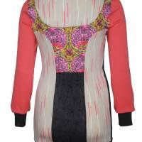 Farbenfroher Designer Pulli -Eco Fashion Art Print *Seerose*Pink-100% Biobaumwolle -Sweatshirt Kleid Langarm hochwertig Bild 3