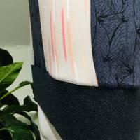 Farbenfroher Designer Pulli -Eco Fashion Art Print *Seerose*Pink-100% Biobaumwolle -Sweatshirt Kleid Langarm hochwertig Bild 5