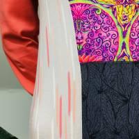 Farbenfroher Designer Pulli -Eco Fashion Art Print *Seerose*Pink-100% Biobaumwolle -Sweatshirt Kleid Langarm hochwertig Bild 6