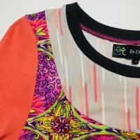 Farbenfroher Designer Pulli -Eco Fashion Art Print *Seerose*Pink-100% Biobaumwolle -Sweatshirt Kleid Langarm hochwertig Bild 7