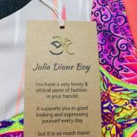 Farbenfroher Designer Pulli -Eco Fashion Art Print *Seerose*Pink-100% Biobaumwolle -Sweatshirt Kleid Langarm hochwertig Bild 8
