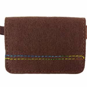 Mini Kinder-Portemonnaie Geldbörse Geldtasche Damen Frauen braun Bild 1