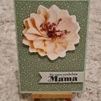 Gratulationskarte , Muttertag ,Für meine wunderbare Mama , Blüte Bild 1