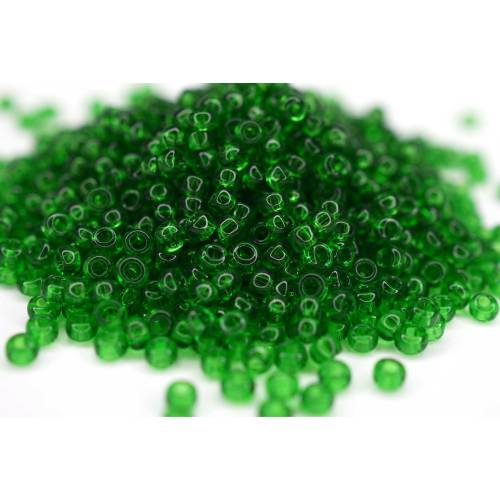 Toho Seed Beads 11/0 Transparent Grass Green