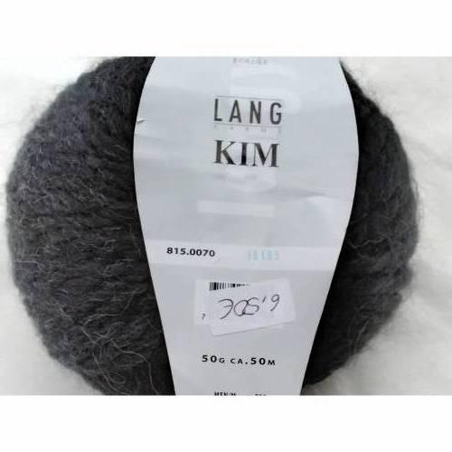 50g (13,00EUR/100g) Lang Yarns Kim, Fb. 70, dunkelgrau