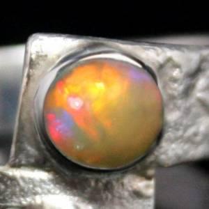 Unikat Opalring - kunstvoller Silberring mit top Opal - handgemacht aus 925er Silber - Designerstück Goldschmiedering Bild 4