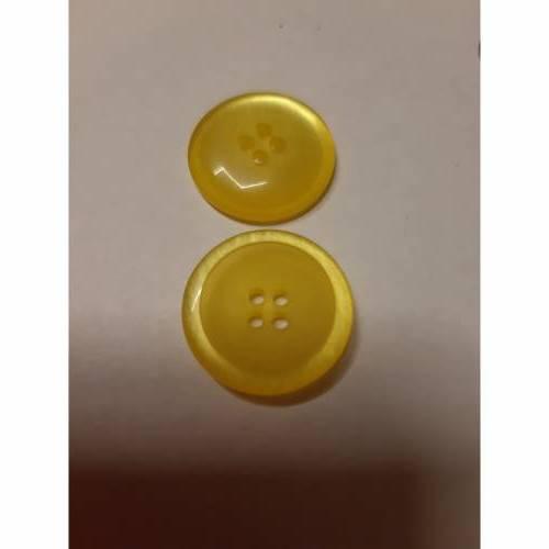 Knopf gelb schimmernd  21 mm