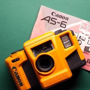 Canon AS-6    35mm-Kamera   FILMTESTED   guter Zustand   schwarz-orange   Unterwasserkamera Bild 1