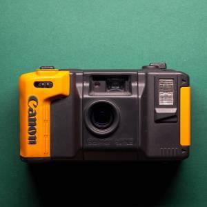 Canon AS-6    35mm-Kamera   FILMTESTED   guter Zustand   schwarz-orange   Unterwasserkamera Bild 3