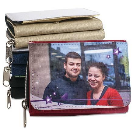 Textil-Geldbörse in 4 Farben bedruckbar nach Ihren Wünschen.  Bild 1