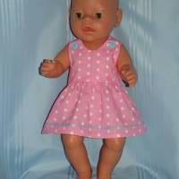 Puppenkleid rosa für 40-43 cm Puppen Bild 1