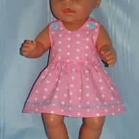 Puppenkleid rosa für 40-43 cm Puppen Bild 2
