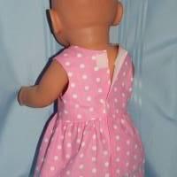 Puppenkleid rosa für 40-43 cm Puppen Bild 3