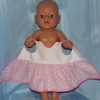 Puppenkleid rosa für 40-43 cm Puppen Bild 4