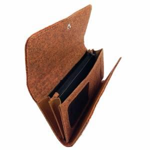 Venetto Portemonnaies Geldbörse Geldtasche Filz und Leder orange Bild 4